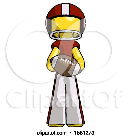 Yellow Football Player Man Giving Football to You by Leo Blanchette