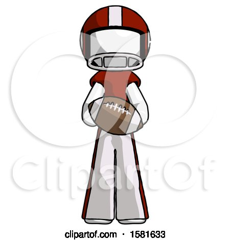 White Football Player Man Giving Football to You by Leo Blanchette