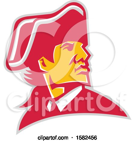 Clipart of a Mascot of General William Howe - Royalty Free Vector Illustration by patrimonio