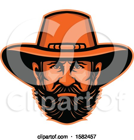 Clipart of a Mascot of General Ulysses S Grant - Royalty Free Vector Illustration by patrimonio
