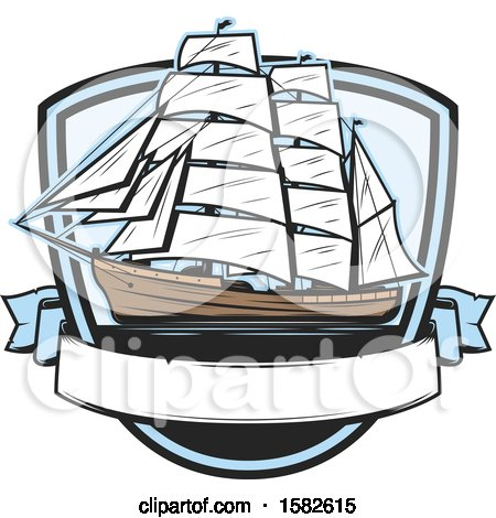 Clipart of a Ship - Royalty Free Vector Illustration by Vector Tradition SM