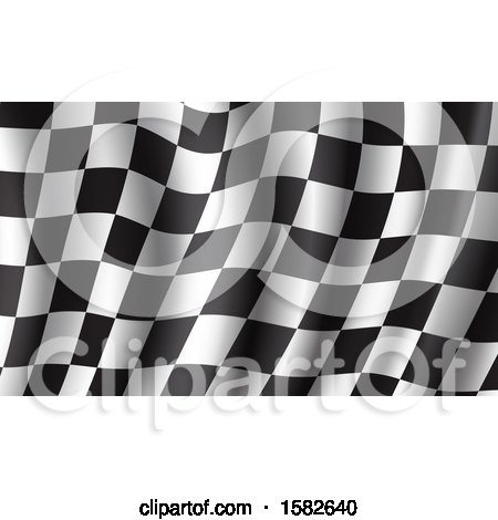 Clipart of a Waving Racing Flag Background - Royalty Free Vector Illustration by Vector Tradition SM