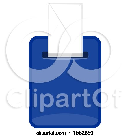 Clipart of a Mailbox with an Envelope - Royalty Free Vector Illustration by Vector Tradition SM