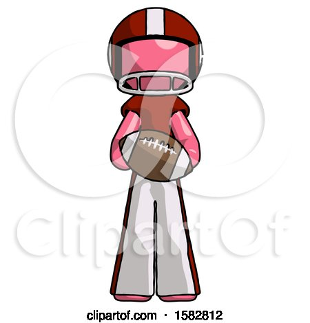 Pink Football Player Man Giving Football to You by Leo Blanchette