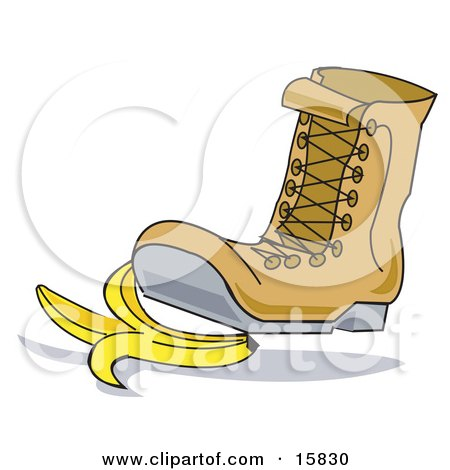 Boot Stepping On A Banana Peel Posters, Art Prints