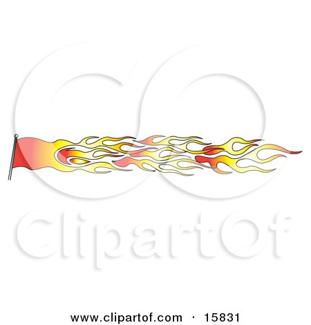 Red And Orange Flag Made Of Fire Clipart Illustration by Andy Nortnik