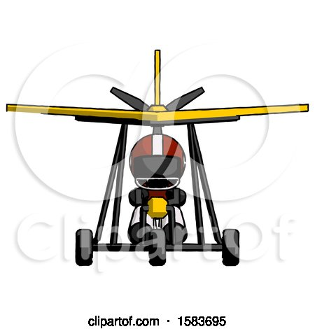 Black Football Player Man in Ultralight Aircraft Front View by Leo Blanchette