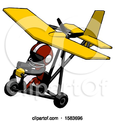 Black Football Player Man in Ultralight Aircraft Top Side View by Leo Blanchette