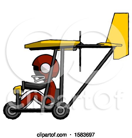 Black Football Player Man in Ultralight Aircraft Side View by Leo Blanchette