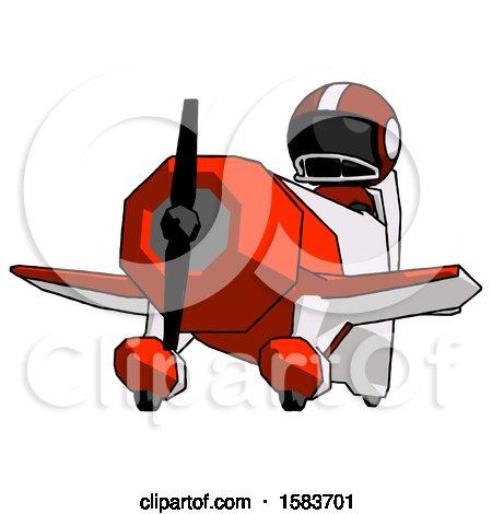 Black Football Player Man Flying in Geebee Stunt Plane Viewed from Below by Leo Blanchette