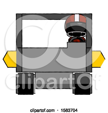 Black Football Player Man Driving Amphibious Tracked Vehicle Front View by Leo Blanchette