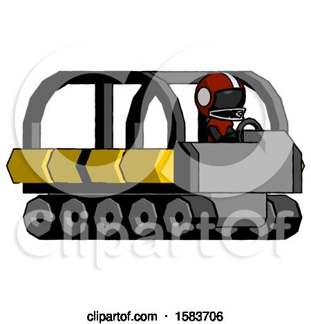 Black Football Player Man Driving Amphibious Tracked Vehicle Side Angle View by Leo Blanchette