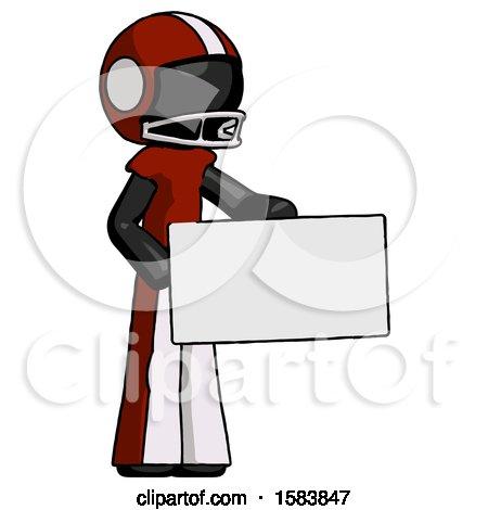 Black Football Player Man Presenting Large Envelope by Leo Blanchette