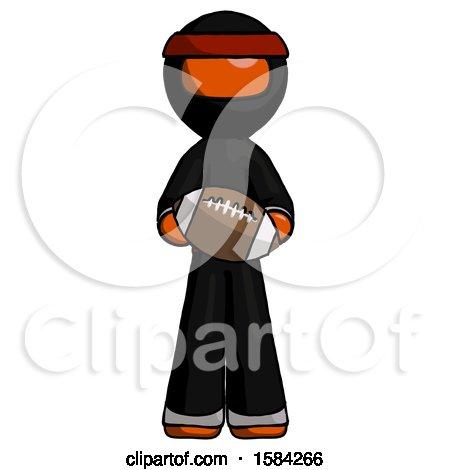 Orange Ninja Warrior Man Giving Football to You by Leo Blanchette