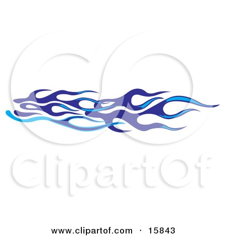 Light And Dark Blue Flames Clipart Illustration by Andy Nortnik