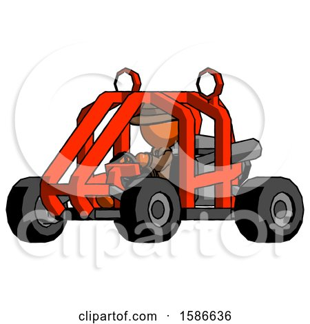 Orange Detective Man Riding Sports Buggy Side Angle View by Leo Blanchette
