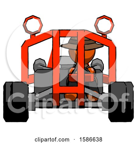 Orange Detective Man Riding Sports Buggy Front View by Leo Blanchette