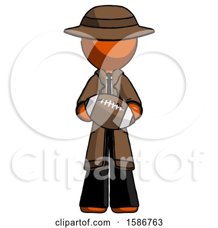 Orange Detective Man Giving Football to You by Leo Blanchette