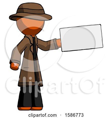 Orange Detective Man Holding Large Envelope by Leo Blanchette