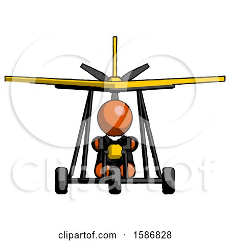 Orange Clergy Man in Ultralight Aircraft Front View by Leo Blanchette