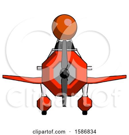 Orange Clergy Man in Geebee Stunt Plane Front View by Leo Blanchette