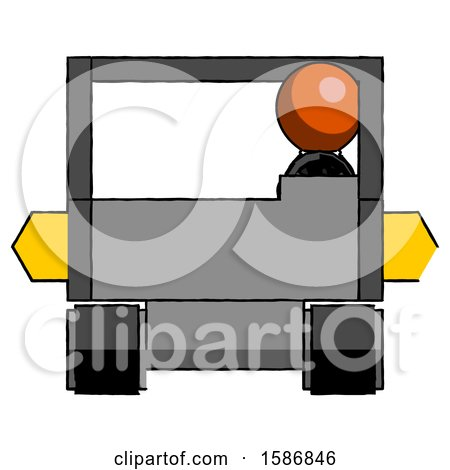 Orange Clergy Man Driving Amphibious Tracked Vehicle Front View by Leo Blanchette
