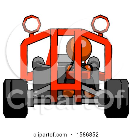 Orange Clergy Man Riding Sports Buggy Front View by Leo Blanchette