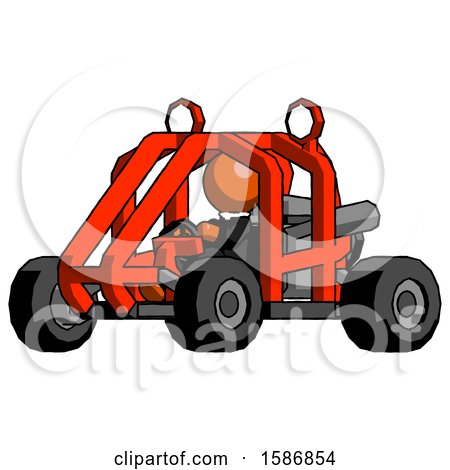 Orange Clergy Man Riding Sports Buggy Side Angle View by Leo Blanchette