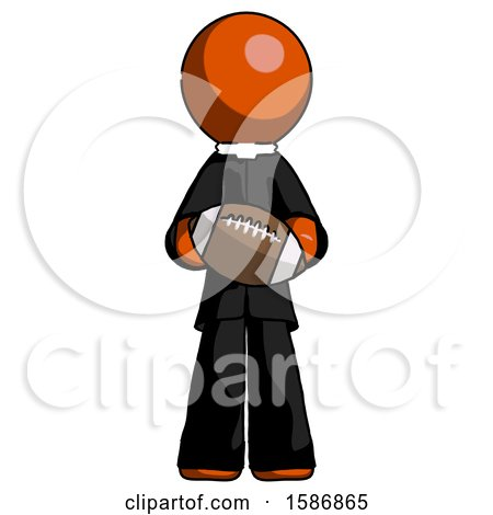 Orange Clergy Man Giving Football to You by Leo Blanchette