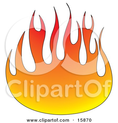 Ball Of Red And Orange Flames Clipart Illustration by Andy Nortnik