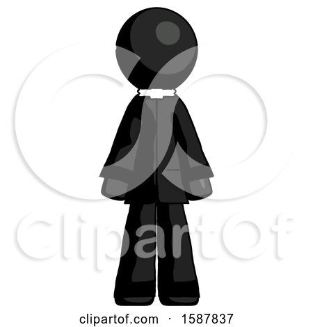 Black Clergy Man Standing Facing Forward by Leo Blanchette