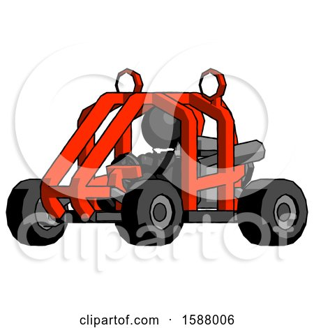 Black Clergy Man Riding Sports Buggy Side Angle View by Leo Blanchette