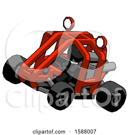 Black Clergy Man Riding Sports Buggy Side Top Angle View by Leo Blanchette