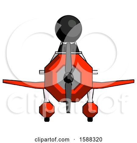 Black Clergy Man in Geebee Stunt Plane Front View by Leo Blanchette