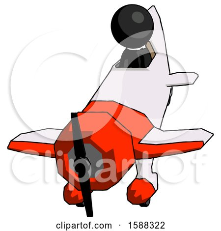 Black Clergy Man in Geebee Stunt Plane Descending Front Angle View by Leo Blanchette