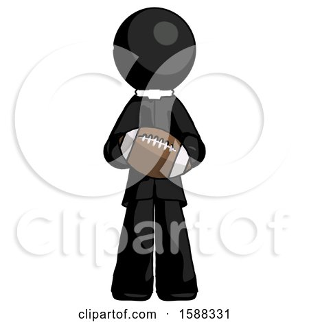 Black Clergy Man Giving Football to You by Leo Blanchette