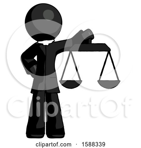 Black Clergy Man Holding Scales of Justice by Leo Blanchette