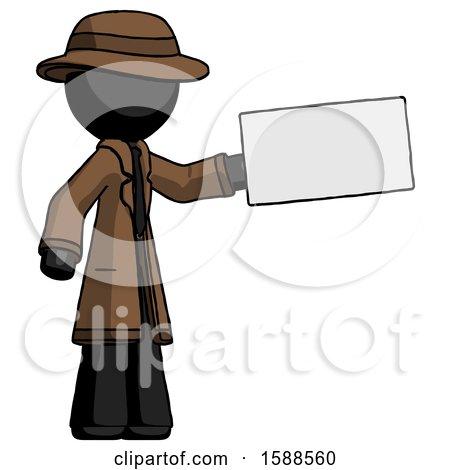 Black Detective Man Holding Large Envelope by Leo Blanchette