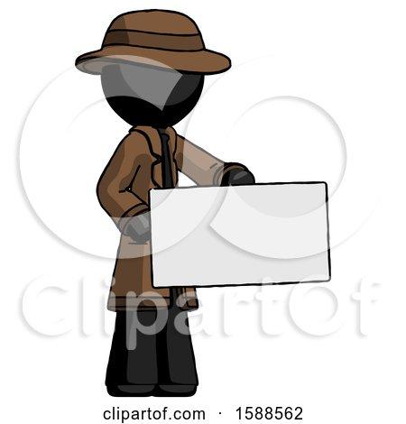 Black Detective Man Presenting Large Envelope by Leo Blanchette