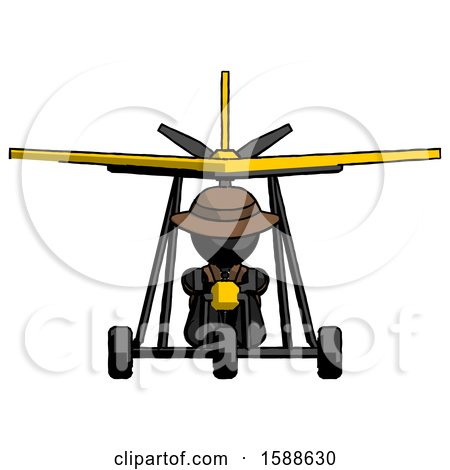 Black Detective Man in Ultralight Aircraft Front View by Leo Blanchette