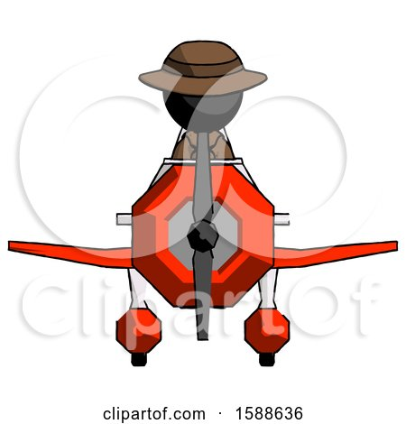 Black Detective Man in Geebee Stunt Plane Front View by Leo Blanchette