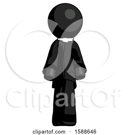 Black Clergy Man Walking Front View by Leo Blanchette