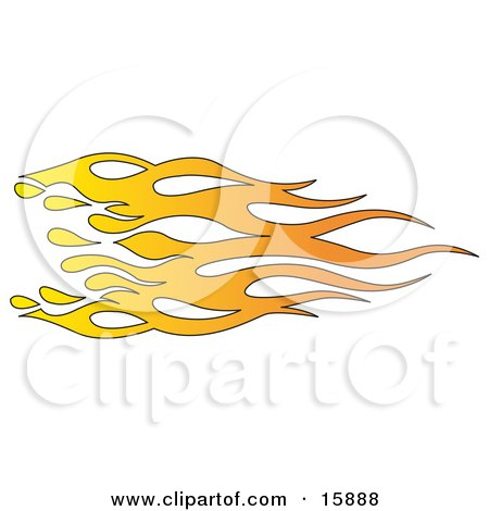 Orange and Yellow Flames Clipart Illustration by Andy Nortnik