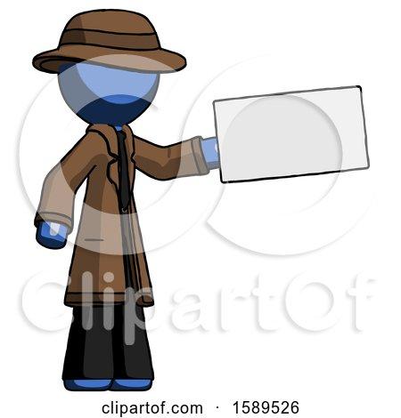 Blue Detective Man Holding Large Envelope by Leo Blanchette