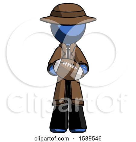 Blue Detective Man Giving Football to You by Leo Blanchette