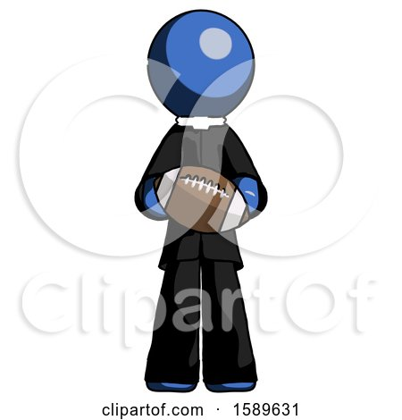 Blue Clergy Man Giving Football to You by Leo Blanchette
