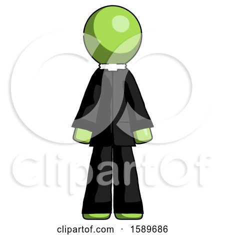 Green Clergy Man Standing Facing Forward by Leo Blanchette