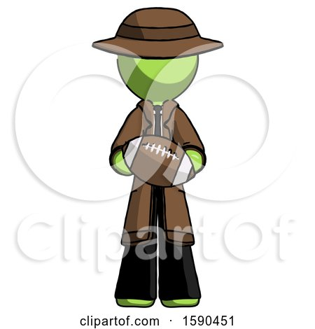 Green Detective Man Giving Football to You by Leo Blanchette