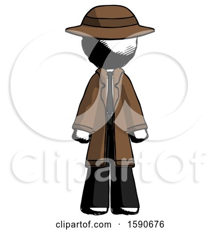 Ink Detective Man Standing Facing Forward by Leo Blanchette