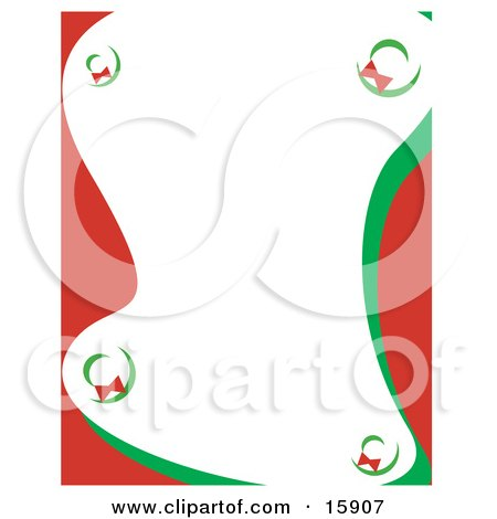 Stationery Border Of Christmas Wreaths Clipart Illustration by Andy Nortnik